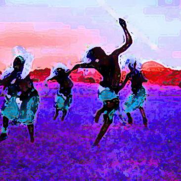 Danse africaine au pastel