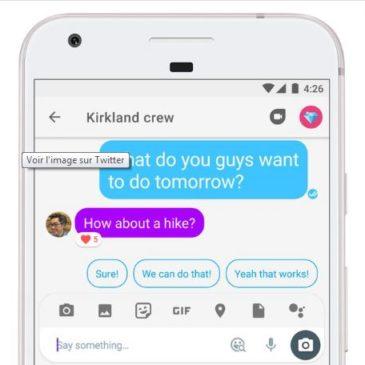 Google Allo vole une idée de Facebook Messenger dans sa dernière mise à jour